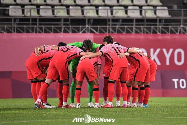 대한민국 올림픽 축구대표팀 선수들. /AFPBBNews=뉴스1