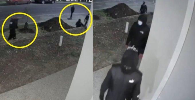 """한밤중 """"도와달라""""며 한 가정집 문을 두들긴 호주 5인조 강도단의 모습이 공개됐다. /사진='Wyndham TV' 페이스북"""