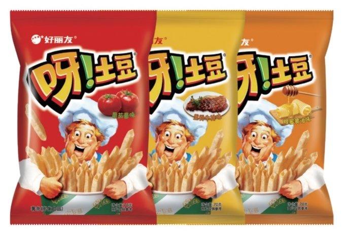 오리온 오!감자 중국 제품 '야!투도우(?!土豆)'