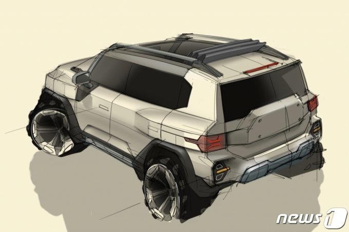 (서울=뉴스1) = 쌍용자동차가 26일 새롭게 정립한 디자인 비전과 철학이 담긴 차세대 SUV 'KR10'의 디자인을 공개했다.  이번 KR10(프로젝트명) 디자인 스케치 공개는 'J100'에 이은 두 번째다. 새로운 디자인 비전 및 철학인 'Powered by Toughness'를 바탕으로 쌍용차 고유의 헤리티지(Heritage)인 강인하고 모던한 디자인을 통해 SUV 정통 브랜드를 계승 발전시킬 것이라고 쌍용차 관계자는 설명했다. (쌍용차 제공) 2021.7.26/뉴스1