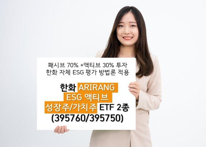 한화자산운용, ESG 액티브 가치주·성장주 ETF 2종 출시