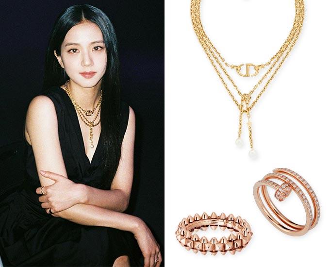 /사진=지수 인스타그램, 디올(Dior), 까르띠에(Cartier)