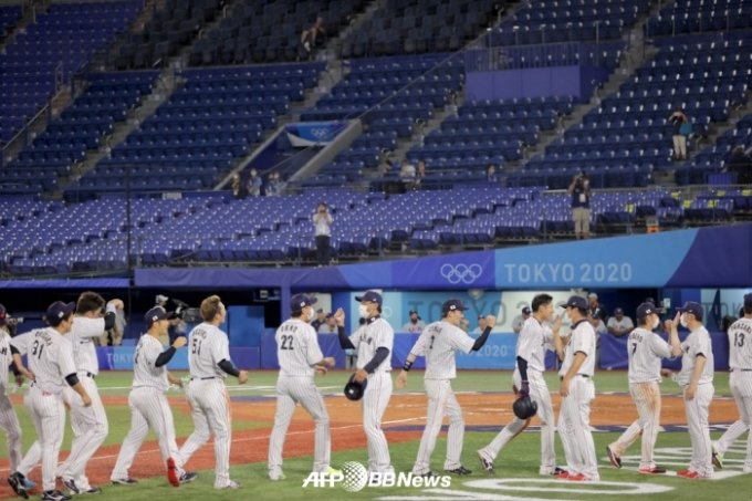 일본 대표팀 선수단. /AFPBBNews=뉴스1
