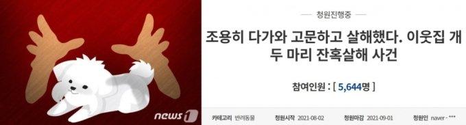 /사진=뉴스1(왼쪽), 청와대 국민청원 게시판