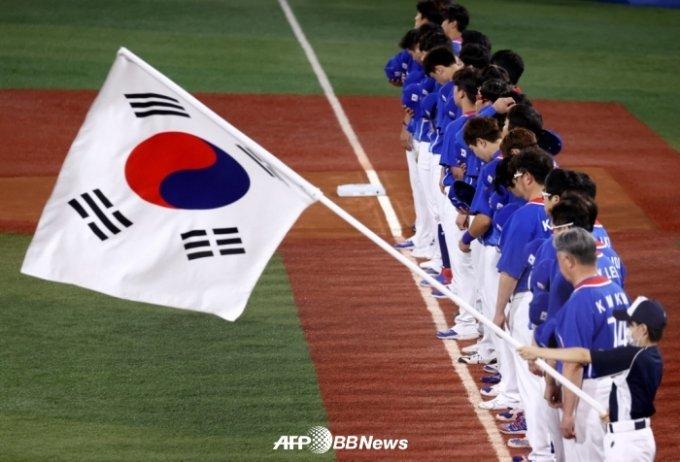 5일(한국시간) 미국과 패자 준결승전을 앞둔 한국 대표팀 선수들의 모습. /AFPBBNews=뉴스1