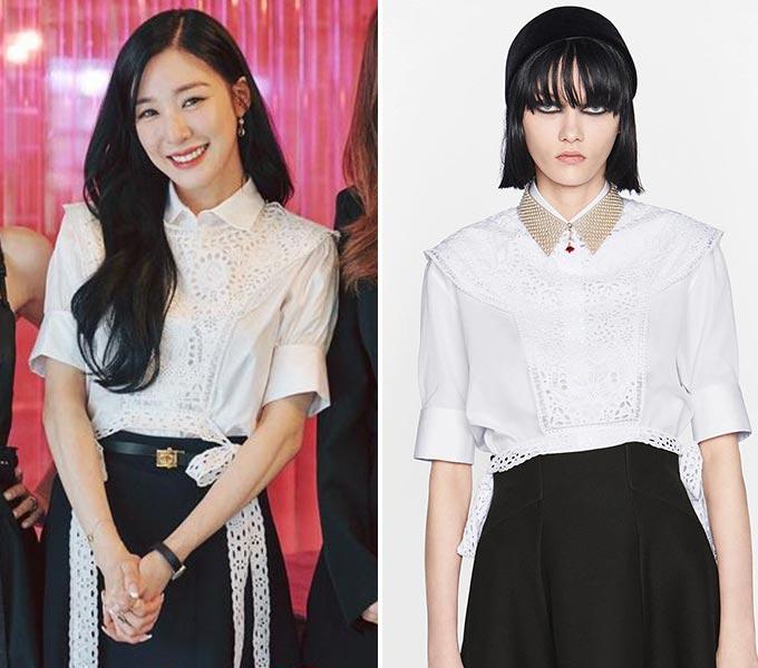 그룹 소녀시대 출신 가수 티파니 영/사진=tvN '유 퀴즈 온 더 블럭' 공식 인스타그램, 디올(Dior)