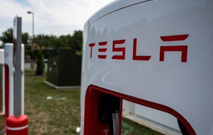 테슬라 전기차 충전소 /사진=AFP