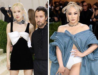 로제 VS 씨엘, '멧 갈라' 등장한 YG선후배…과감한 패션 '감탄'
