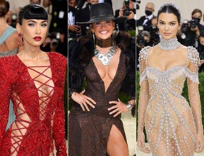 노출, 노골적이거나 은근하거나…스타들의 '멧 갈라' 드레스 대결