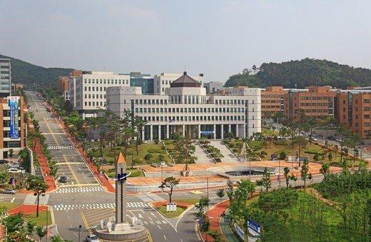 단국대 죽전캠퍼스 전경.