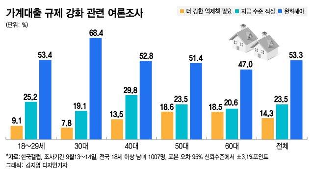 머니투데이-한국갤럽 가계부채 관련 여론조사 결과