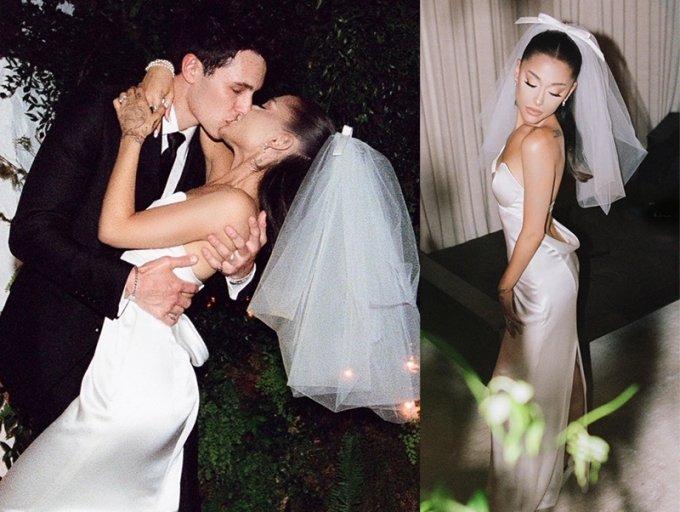 팝 가수 아리아나 그란데의 결혼식 모습./사진=아리아나 그란데 인스타그램
