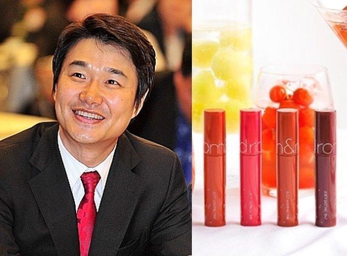 (왼쪽)김태욱 아이패밀리SC 대표 (오른쪽) 롬앤 화장품 이미지