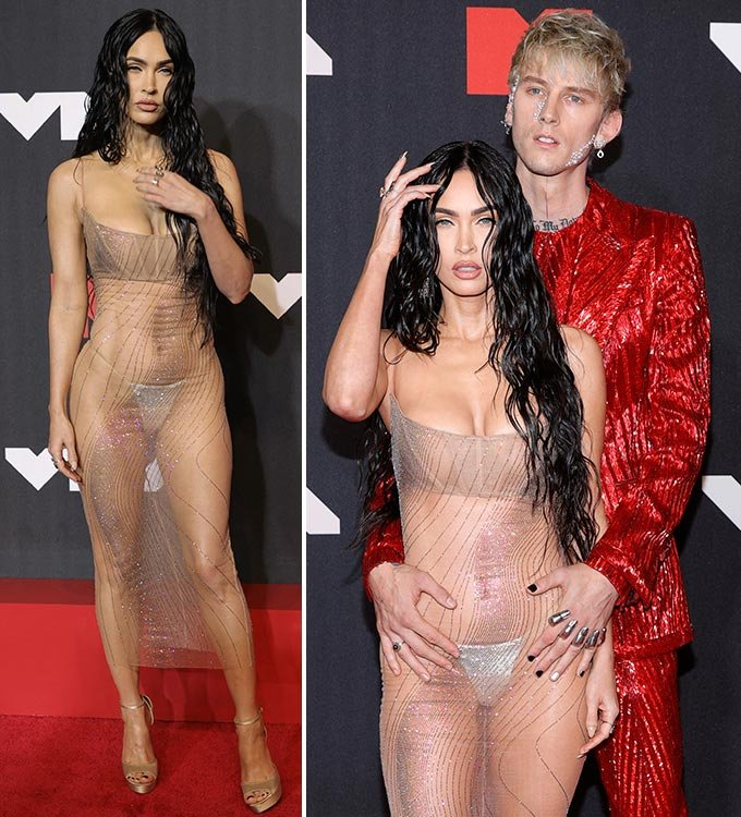 2021 MTV VMA에 참석한 할리우드 배우 메간 폭스와 그의 남자친구 래퍼 머신 건 켈리/사진=AFP/뉴스1