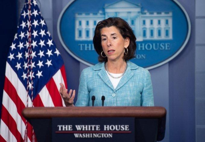 지나 러몬도 미국 상무부 장관. /사진=AFP