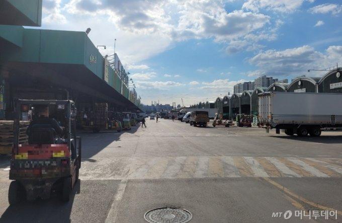 24일 오후 서울 송파구 가락시장 도매장터가 한산한 모습을 보이고 있다. / 사진 = 오진영 기자