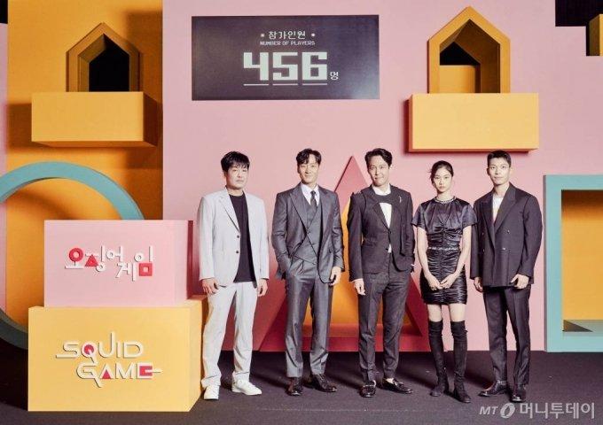 배우 허성태, 박해수, 이정재, 정호연, 위하준/사진제공=넷플릭스