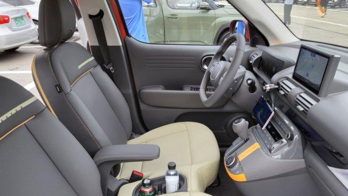 현대차 캐스퍼 1.0 터보 인스퍼레이션 트림 운전석 모습/사진=이강준 기자