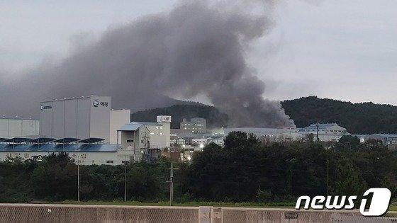 충남 청양 애경화학공장 화재…충남도