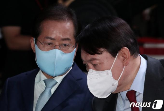 윤석열은 9%p, 홍준표는 7%p 이재명에 앞서-윈지코리아