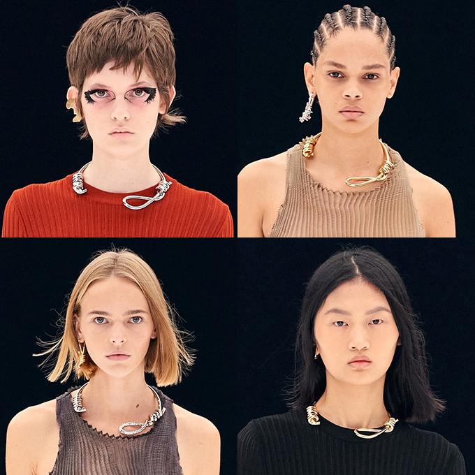 2022년 지방시가 최신 패션쇼에서 선보인 올가미 목걸이 /사진=지방시 2022 S/S 컬렉션