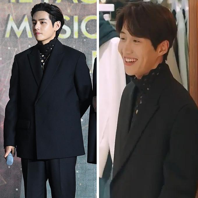 그룹 방탄소년단 뷔, 배우 김선호 /사진=더팩트 제공, tvN '갯마을 차차차' 방송화면