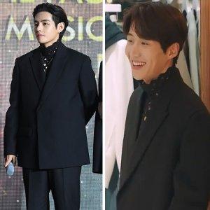 방탄 뷔 vs 김선호, '280만원'짜리 망사 옷 입었다…
