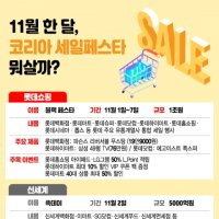 11월엔 '살맛 난다'…코리아 세일페스타 특가행사 '총정리'