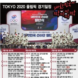 팬데믹 속 막오른 도쿄올림픽… 한국대표팀 주요 경기일정