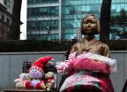 눈 쌓인 평화비 동상