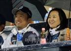 김택진-윤송이 부부 '즐거운 야구장 나들이'