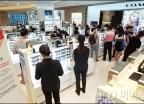 롯데월드타워 면세점 마지막 날, '여전히 붐비는 관광객'