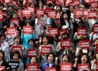 나경원 사퇴 촉구하는 더불어민주당 전국여성위원회