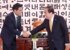 국회의장 예방하는 오신환 신임 원내대표
