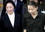공판 마친 한진家 모녀 이명희-조현아