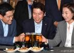여야 3당 원내대표 '맥주 회동'