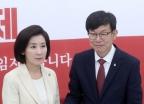 김상조, 자유한국당 예방