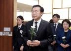 [사진] 정두언 전 의원 빈소 향하는 손학규 대표