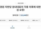 """靑 청원 """"나경원 특검"""" 32만명 vs """"조국 특검"""" 17만명"""
