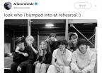 """""""내가 누구 만났게"""" BTS 만나 자랑한, 아리아나 그란데"""