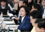추미애 장관 '취임 후 첫 기자간담회'