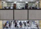 코로나 여파로 사라진 국감장 앞 장사진