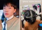 """'유깻잎 전남편' 최고기 """"딸 머리로 장난""""…다정한 모습"""