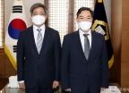 김오수 신임 검찰총장, 대법원장 예방