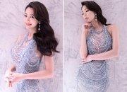 클라라, 아찔한 착시 드레스 패션…굴곡진 몸매 '감탄'