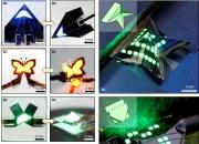[영상]피라미드, 나비 모양도…마음대로 접는 QLED 개발