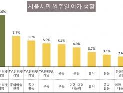 주중엔 TV·인터넷, 주말엔 여행·나들이, 서울시민의 삶