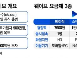 """토종 OTT 웨이브 """"넷플릭스 넘는다, 2023년 유료가입자 500만명"""""""
