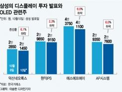 삼성 13조 투자에도 OLED 관련株가 웃지 못한 이유