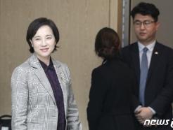 [사진] 입장하는 유은혜 교육부 장관